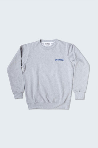 Grey sweatshirt on white background