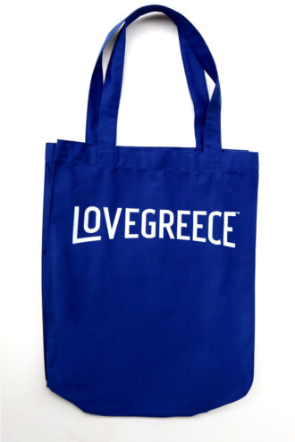 Gabardine tote royal blue colour