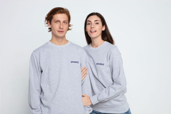 Couple in Grey sweatshirts